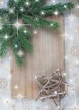 Weihnachtsblaues magisches Feld Stockfotografie