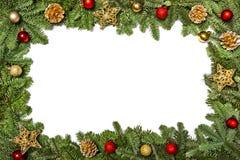 Weihnachtsblaues magisches Feld Sankt Klaus, Himmel, Frost, Beutel Neues Jahr ` s Gr??e Feld mit Niederlassungen eines Weihnachts lizenzfreies stockbild