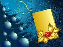 Weihnachtsblauhintergrund Lizenzfreies Stockbild
