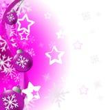 Weihnachtsbälle stellt frohe Weihnachten und Flitter dar Stockfoto