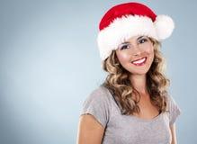 Weihnachtsblonde Frau Lizenzfreies Stockbild