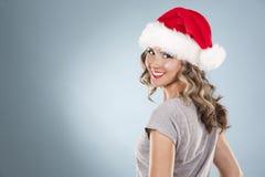 Weihnachtsblonde Frau Lizenzfreie Stockfotografie