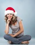 Weihnachtsblonde Frau Lizenzfreie Stockfotos
