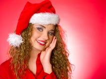 Weihnachtsblondes Küken Stockfotografie