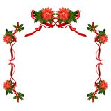 Weihnachtsblumenfeiertagsrahmen stock abbildung