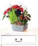 Weihnachtsblumengesteck Stockfotos