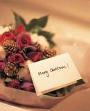 Weihnachtsblumenstrauß Lizenzfreie Stockfotos