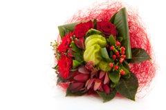 Weihnachtsblumenstrauß Stockfoto