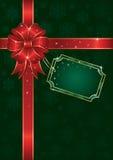 Weihnachtsbogen auf grünem Hintergrund mit Schneeflocken Lizenzfreies Stockbild
