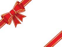 Weihnachtsbogen und -farbbänder Stockfoto