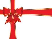 Weihnachtsbogen und -farbbänder Lizenzfreies Stockbild