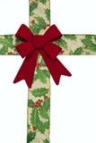 Weihnachtsbogen und -farbband - getrennt lizenzfreie stockfotos