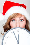 Weihnachtsborduhrstunde Lizenzfreies Stockfoto