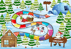 Weihnachtsbrettspiel Stockfoto