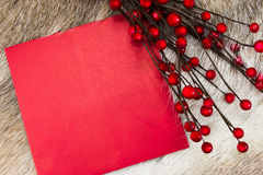 Weihnachtsbrief mit copyspace lizenzfreie stockbilder