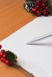 Weihnachtsbriefhintergrund Lizenzfreie Stockfotografie