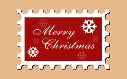 Weihnachtsbriefmarke (Vektor) Stockbild