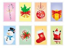 Weihnachtsbriefmarken stock abbildung