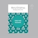 Weihnachtsbroschürenflieger für Grußkarte Stockfotografie