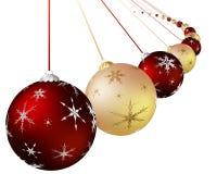 Weihnachtsbunte Kugel lizenzfreie abbildung