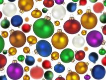 Weihnachtsbunte Kugeln Stockbilder