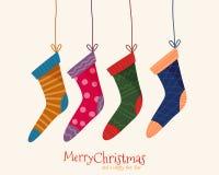 Weihnachtsbunte Socken Lizenzfreie Stockfotografie