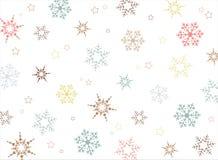 Weihnachtsbunter Schneeflocken-Musterhintergrund lizenzfreie abbildung