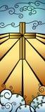 Weihnachtsbuntglas-Geburt Christis-Fahne Lizenzfreie Stockfotografie