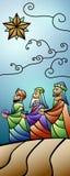 Weihnachtsbuntglas-Geburt Christis-Fahne Lizenzfreies Stockbild