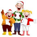 Weihnachtscarolers lizenzfreie abbildung