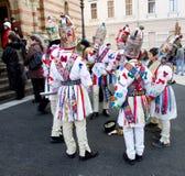 Weihnachtscarolers, Sibiu lizenzfreies stockbild