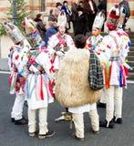 Weihnachtscarolers, Sibiu stockfotos