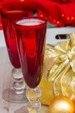 Weihnachtschampagner 2012 Lizenzfreie Stockbilder