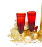 Weihnachtschampagner 2012 Stockfoto
