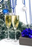 Weihnachtschampagner 2012 Stockfotografie