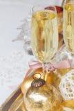 Weihnachtschampagner 2012 Stockfotos