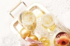 Weihnachtschampagner 2012 Lizenzfreies Stockbild