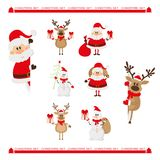 Weihnachtscharaktere eingestellt Stockfoto