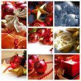 Weihnachtscollage Lizenzfreies Stockbild