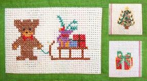 Weihnachtscollage - sticken Sie Stockfotos