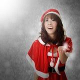 Weihnachtsdame Stockbild