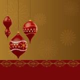 Weihnachtsdekoration lizenzfreie abbildung