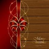 Weihnachtsdekoration auf hölzernem Hintergrund Lizenzfreies Stockbild
