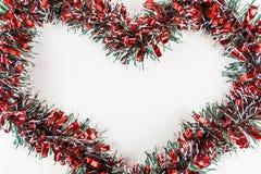 Weihnachtsdekoration auf Weiß stockfotos