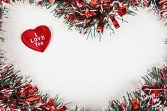 Weihnachtsdekoration auf Weiß stockfoto