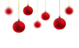 Weihnachtsdekoration auf Weiß Lizenzfreie Stockfotos