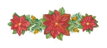 Weihnachtsdekoration auf Weiß Stockfotografie