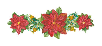 Weihnachtsdekoration auf Weiß Stockbild