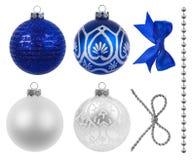 Weihnachtsdekoration auf weißem Hintergrund Stockfotos
