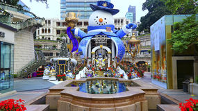 Weihnachtsdekoration bei Erbe 1881 in Hong Kong Lizenzfreies Stockfoto